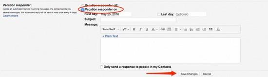 Автоответчик Gmail 2