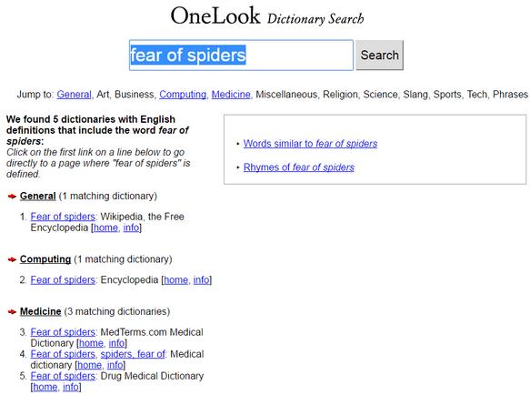 онлайн-словарь OneLook
