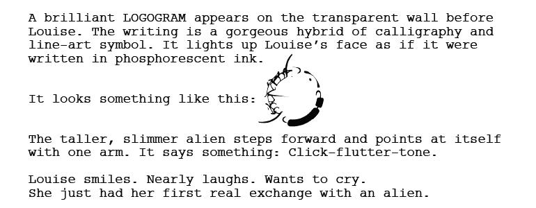 Прибытие: язык гептаподов