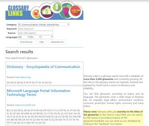 Каталог словарей Еврокомиссии