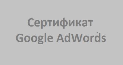 Олеся Зайцева: сертификат Google AdWords - профессиональная работа с рекламными кампаниями и ключевыми словами