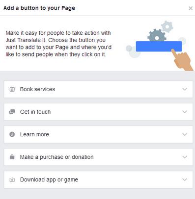 Добавьте на страницу в Фейсбуке кнопку с призывом к действию