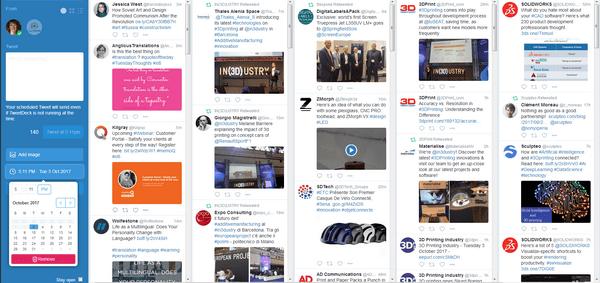ез списков Twitter — напрасная трата времени. Подойдет даже простейший инструмент типа Tweet Deck.