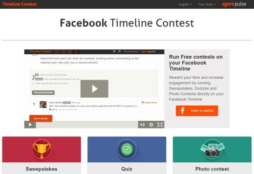 Приложение Facebook Timeline Contest для создания собственных конкурсов на странице Фейсбука