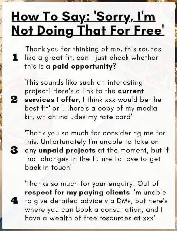 Как отказаться от бесплатной работы
